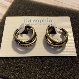 Lia Sophia intertwined pierced earrings